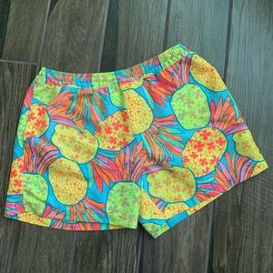 Chubbies The Hooligans Pineapple Board Shorts Sz M